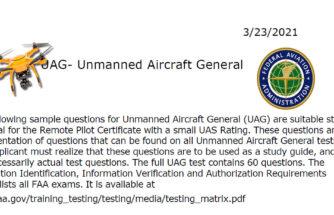3/21/21 FAA Sample Part 107 Exam